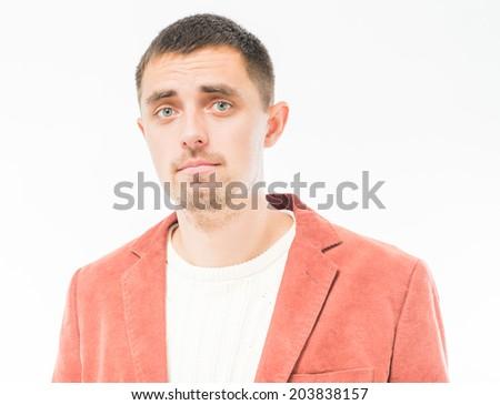 Unhappy man - stock photo