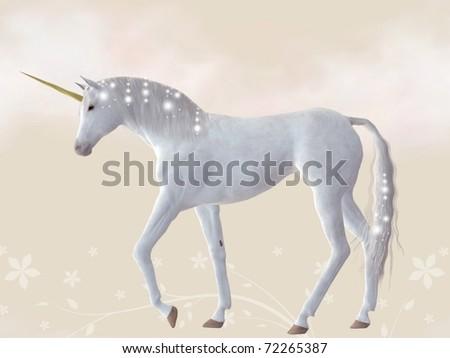 Unicorn - stock photo