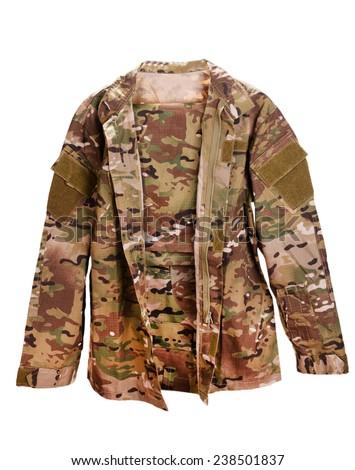 Uniforms khaki isolated on white - stock photo