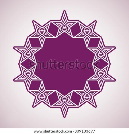Union conceptual symbol. Festive design element with stars, decorative luxury template.  - stock photo