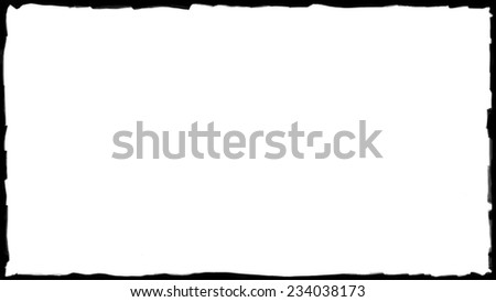 Unique black border frame and white background thin - stock photo