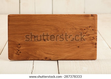 Unique cutting board on display - stock photo