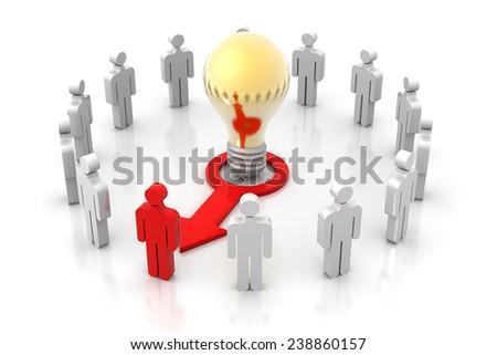 Unique person unique idea  - stock photo