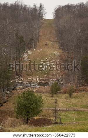unique views in bear mountain state park - stock photo