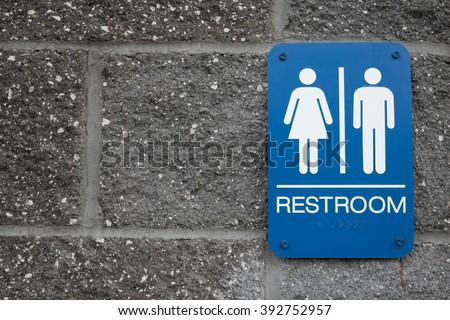 Unisex Bathroom - stock photo