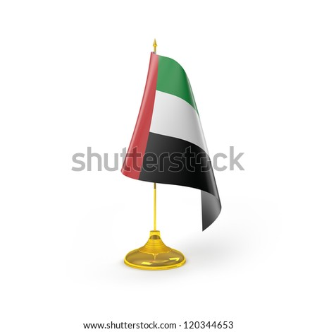 United Arab Emirates Flag Detail Render - stock photo