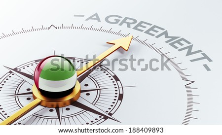 United Arab Emirates  High Resolution Agreement Concept - stock photo