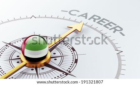 United Arab Emirates  High Resolution Career Concept - stock photo