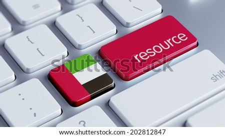 United Arab Emirates  High Resolution Resource Concept - stock photo