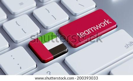 United Arab Emirates  High Resolution Teamwork Concept - stock photo