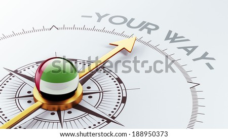 United Arab Emirates  High Resolution Your Way Concept - stock photo