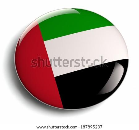 United Arab Emirates round flag. - stock photo