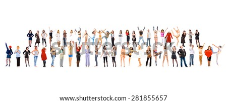 United Colleagues Isolated Groups  - stock photo