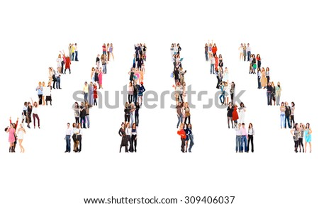 United Company People Diversity  - stock photo