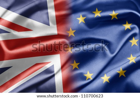 United Kingdom and EU - stock photo