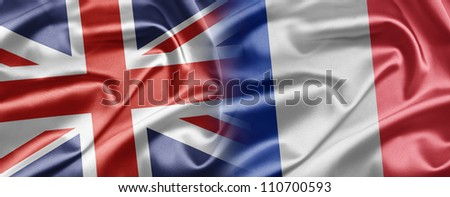 United Kingdom and France - stock photo