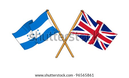 United Kingdom and Honduras alliance and friendship - stock photo