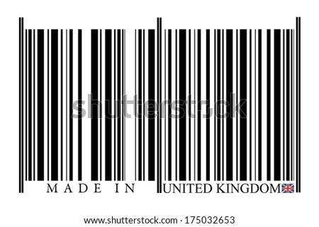 United Kingdom Barcode on white Background - stock photo