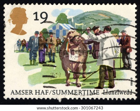 UNITED KINGDOM - CIRCA 1994: A stamp printed in the United Kingdom shows Amser Haf/ Summertime, Llanelwedd, circa 1994 - stock photo