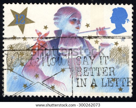 UNITED KINGDOM - CIRCA 1985: A stamp printed in the United Kingdom shows The Christmas, circa 1985. - stock photo