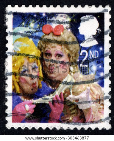 UNITED KINGDOM - CIRCA 2008: A stamp printed in the United Kingdom shows Ugly Sisters from the Pantomine Cinderella, circa 2008 - stock photo