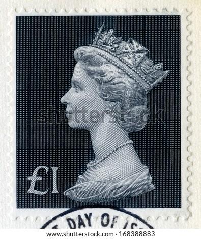 UNITED KINGDOM - CIRCA 1972: A vintage British postage stamp, circa 1972. - stock photo