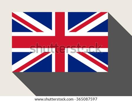 United Kingdom flag in flat web design style. - stock photo