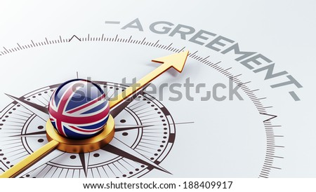 United Kingdom High Resolution Agreement Concept - stock photo