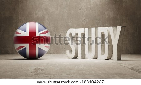 United Kingdom High Resolution Study Concept - stock photo