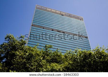 United Nations Headquarter - New York City, USA - stock photo