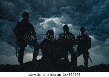 United States Army rangers - stock photo