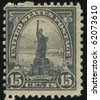 UNITED STATES - CIRCA 1920: stamp printed by United states, shows Statue of Liberty, circa 1920. - stock photo