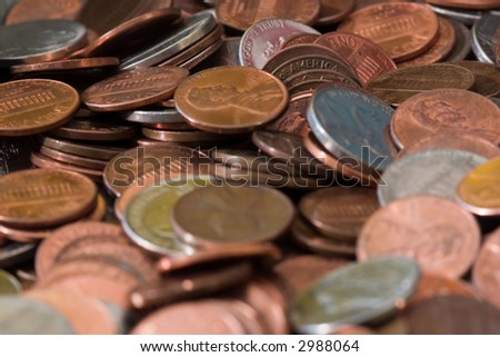 United States coins - stock photo
