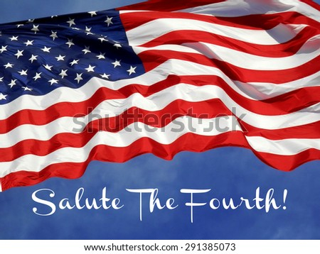 United States Flag Fourth of July Concept  - stock photo