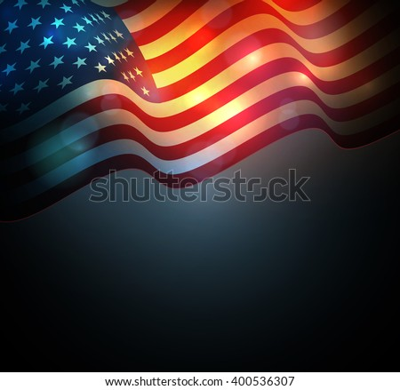 United States flag. USA Independence Day background. Fourth of July celebrate. - stock photo