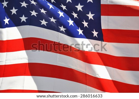 United States flag useful as a background pattern - stock photo