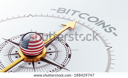 United States High Resolution Bitcoin Concept - stock photo