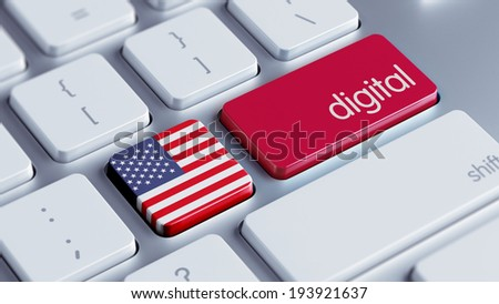 United States High Resolution Digital Concept - stock photo