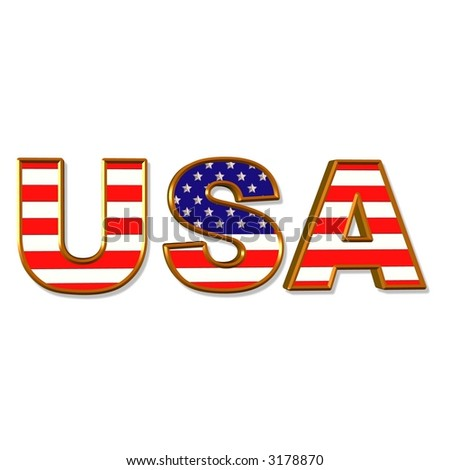 United States of America acronym illustration - stock photo