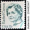 UNITED STATES OF AMERICA - CIRCA 1980: stamp printed in USA shows Rachel Carson, circa 1980 - stock photo