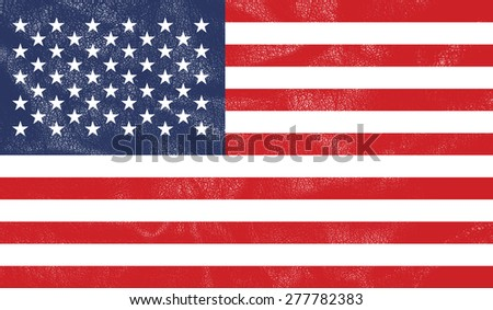 United States of America flag on leather texture - world flag leather textured - stock photo