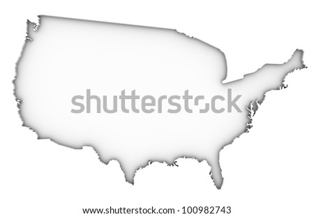 United States of America map on a white background. Part of a series. - stock photo