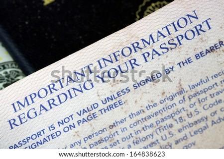 United States of America travel passport - stock photo