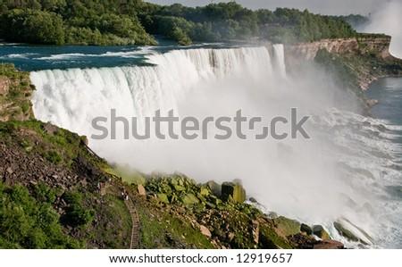 United States side of the Niagara Falls shot at daytime - stock photo