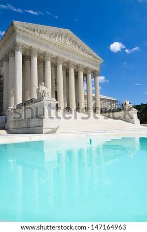 United States Supreme Court Building in Washington, DC  - stock photo