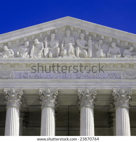 United States Supreme Court Building in Washington DC - stock photo