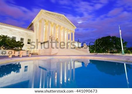 United States Supreme Court Building in Washington DC, USA. - stock photo