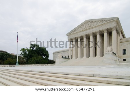 United States Supreme Court in Washington DC USA - stock photo