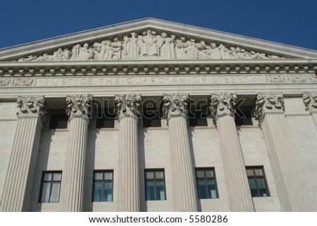 United States Supreme Court (Rear) - stock photo
