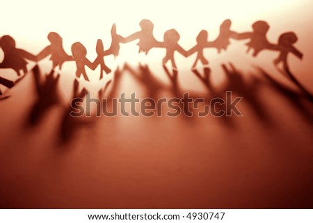 United together - stock photo